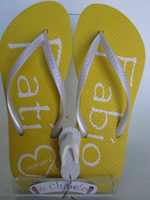 bb67ee44fd Chinelo Personalizado com Nome Preço Rio de Janeiro - Chinelo Personalizada  para Convidados