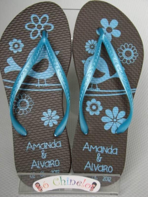 6b7c5228f7 Chinelos Personalizados para Lembrancinha Rio de Janeiro - Chinelo  Personalizado